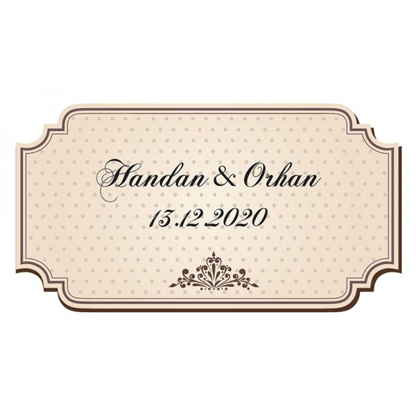 Figure 1 Brown Background Vintage Label - 4x8 cm Straight Cut - Rectangle Coated Paper Adhesive Sticker Label