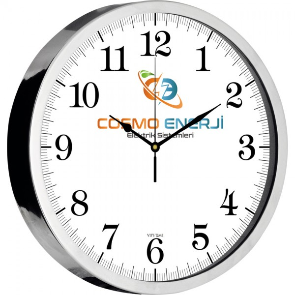 Wall Clock (Stainless Metal,,- Bristol Dial)