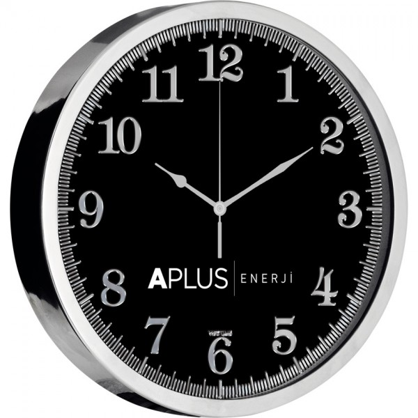 Wall Clock (Stainless Metal,,- Silver Leaf)