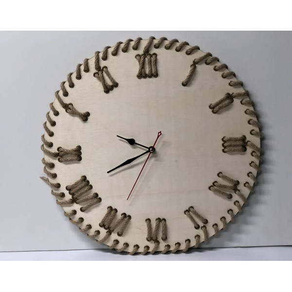 Corded Wall Clock (Raw Color)