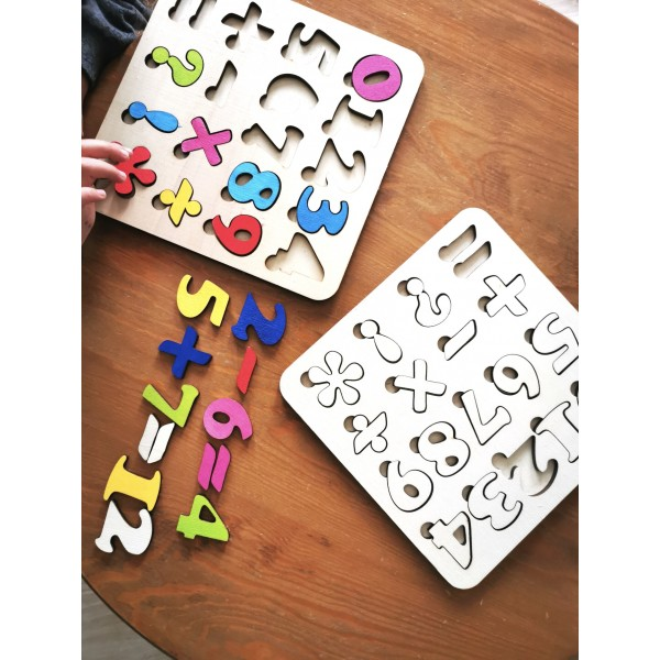 Puzzle - Brain Teaser Numbers (Painted)