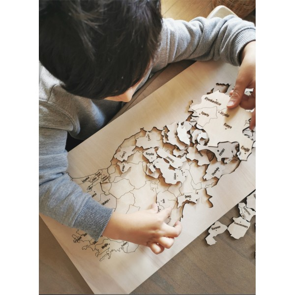 PUZZLE Turkey Map WITH BOX - (50x27,50)