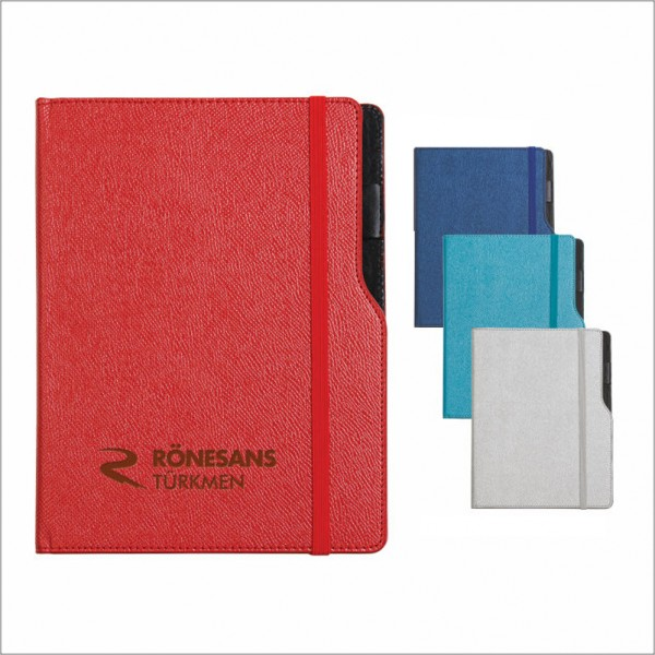 Thermo leather notebook size: 10X14 Cm 942-glossy